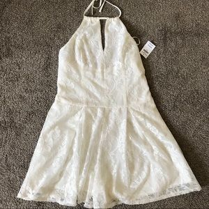 White lace Hollister romper